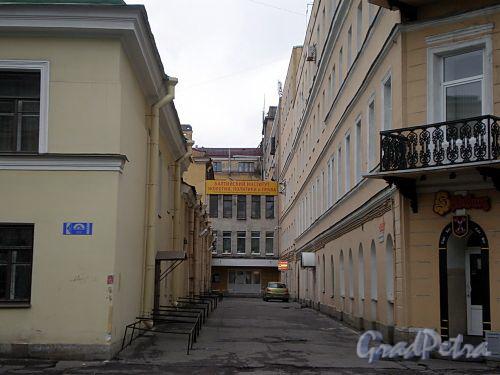 Перспектива Финляндского переулка от 17-ой линии В.О. Фото октябрь 2009 г.