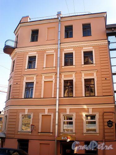 Гродненский пер., д. 17 / ул. Радищева, д. 36. Фасад по переулку. Фото апрель 2010 г.
