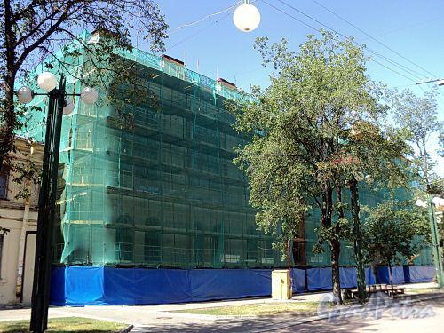 Соляной пер., д. 9. Реставрационные работы. Фото август 2010 г.