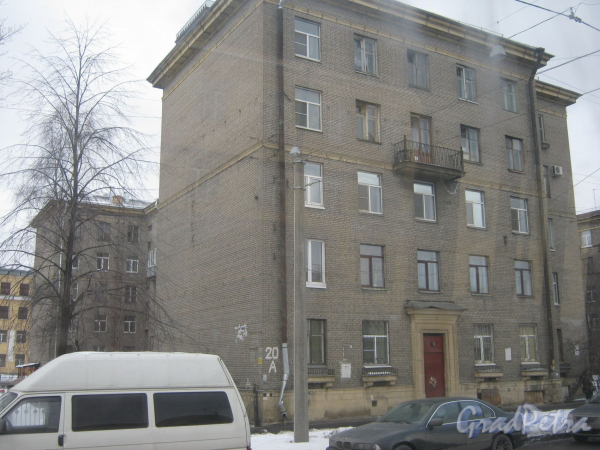 Огородный пер., дом. 11. Общий вид со стороны ул. Маршала Говорова. Фото февраль 2012 г.