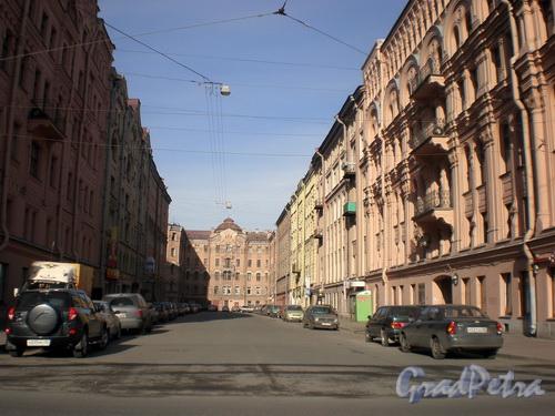 Вид на Угловой переулок от Московского проспекта. Фото 2008 г.