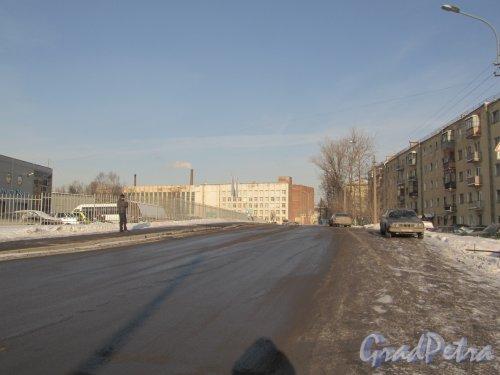 Перспектива Чичуринского переулка от улицы Жукова в сторону Полюстровского проспекта. Фото февраль 2012 г.