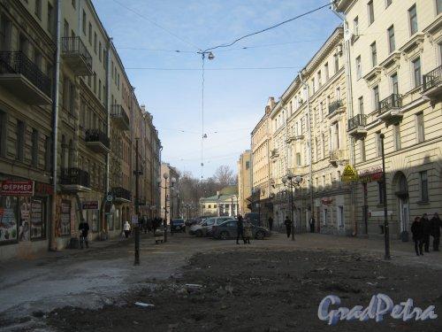Финский переулок. Общий вид с Боткинской улицы на переулок со снесёнными торговыми павильонами. Фото 20 марта 2013 г.