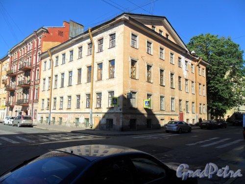 Дровяной переулок, дом 5. Вид дома с площади Кулибина. Фото 21 июня 2013 г.