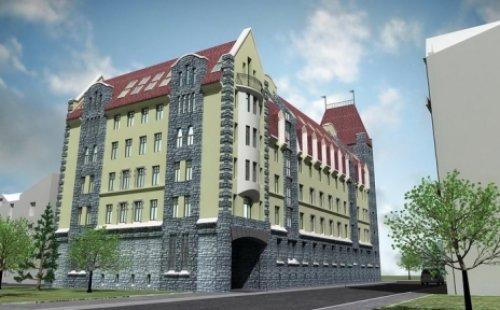 Проект жилого комплекса «Торкельская Ратуша» на пересечение Рыбного переулка и проспекта Ленина в городе Выборге.