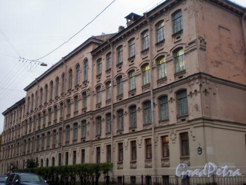 Прудковский пер., д. 1 / Греческий пр., д. 8. Фасад здания со стороны Прудковского пер. Фото октябрь 2008 г.