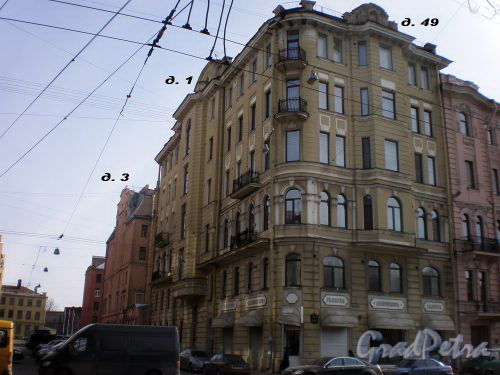 Перспектива нечетной стороны Заячьего переулка от Суворовского проспекта в сторону Дегтярного переулка. Фото апрель 2009 г.