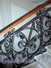 Манежная пл., д. 4. Офицерский корпус лейб-гвардии Уральской казачьей сотни. Решетка перил лестницы. Фото октябрь 2009 г.