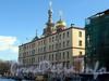Конюшенная пл., д. 2 (левая часть) / наб. канала Грибоедова, д. 3. Здание бывшего комплекса Придворного конюшенного ведомства. Фасад по площади. Фото март 2010 г.