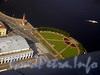 Вид на Стрелку Васильевского острова из вертолёта.