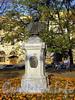 Бюст М. В. Ломоносова на одноименной площади.