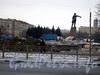 Строительство фонтанов на площади. Март 2006 г.