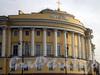 Сенатская пл., д. 1 / Английская наб., д. 2. Здание Сената (Конституционного суда). Угловая часть фасада. Фото июнь 2009 г.