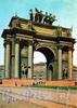 Пл. Стачек, д. 1. Нарвские Триумфальные ворота. Фото И. Б. Голанд, 1959 г. (набор открыток)