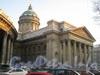 Казанская пл. , д. 2. Северный портик Казанского собор после реставрации. Вид от Воронихинского сквера в феврале 2012 г.