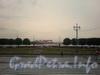 Вид на сквер стрелки Васильевского острова от здания Биржи. Фото 2008 г.