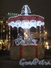 Исаакиевская пл. Новогодняя композиция в сквере. Фото январь 2014 г.