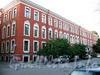 Румянцевская пл., д. 1 / ул. Репина, д. 1. Доходный дом А. В. Макарова (Г. Ю. Урлауб). Фасад по площади. Фото июль 2009 г.