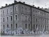 Румянцевская пл., д. 1 / 1-я линия В.О., д. 2. Доходный дом А. В. Макарова (Г. Ю. Урлауб). Фрагмент фасада здания. Фото 1967 г. (из книги «Историческая застройка Санкт-Петербурга»)