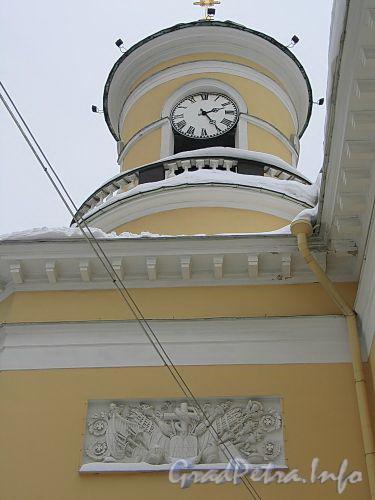 Преображенская пл., д. 1. Спасо-Преображенский собор. Башня с курантами. Фото февраль 2010 г.