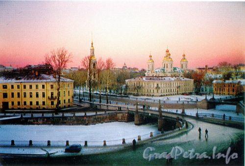Вид на Николо-Богоявленский Морской собор из дома 66 по Садовой улице. Фото 2004 г. (из книги «Старая Коломна»)