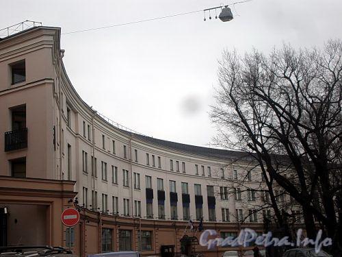 Преображенская пл., д. 4. Здание Генерального консульства Финляндии. Вид от улицы Пестеля. Фото март 2010 г.