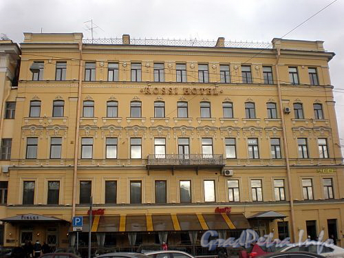 Пл. Ломоносова, д. 6 / наб. реки Фонтанки, д. 55. Бутик-отель «Росси». Фасад по площади. Фото март 2010 г.
