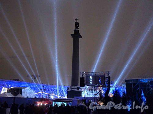 Дворцовая площадь. Встреча 2011 года. Фото 1 января 2011 г.