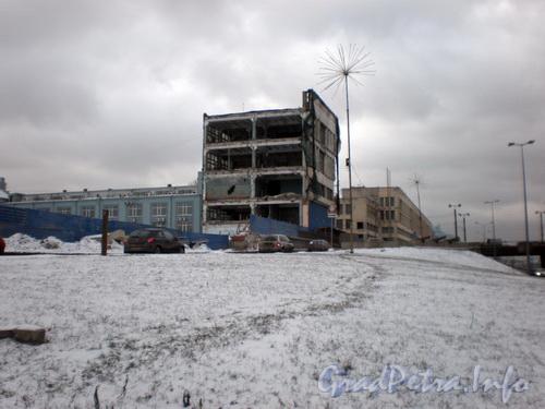 Красногвардейская пл., д. 2, снос здания Петрозавода. Фото 2008 г.
