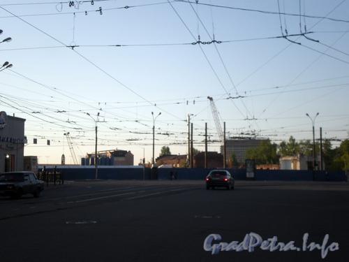 Красногвардейская пл., д. 2, вид на Петрозавод, после сноса здания. Фото 2008 г.