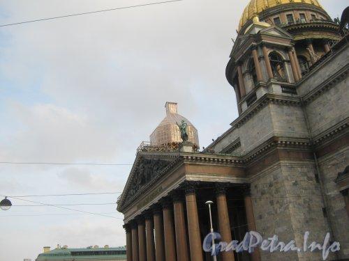 Исаакиевская пл., дом 4. Реставрационные работы на Исаакиевском Соборе. Фото 5 октября 2012 г.