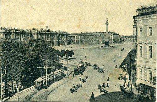 Дворцовая площадь. Открытка 1929 года.