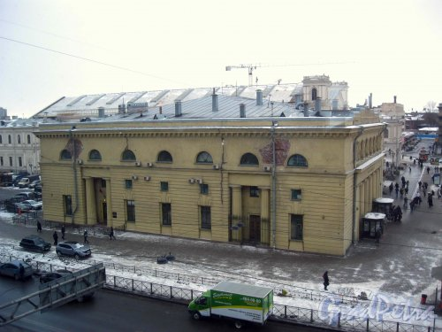 Наземный павильон станции метро «Балтийская». Фото 11 марта 2013 г.