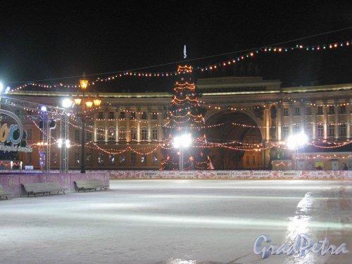 Каток на Дворцовой пл. Фото январь 2008 г.