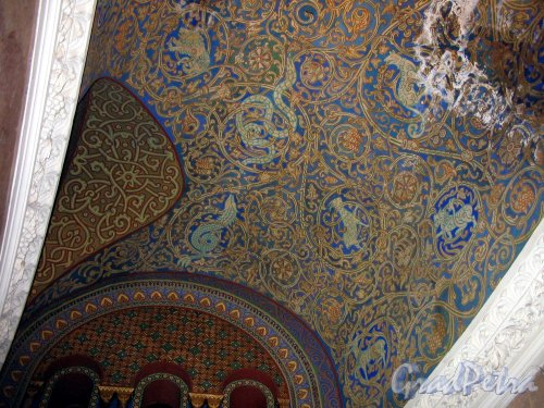 Якорная пл. (Кронштадт), д. 5. Морской собор Святого Николая Чудотворца. Роспись потолка. Фото август 2006 г.