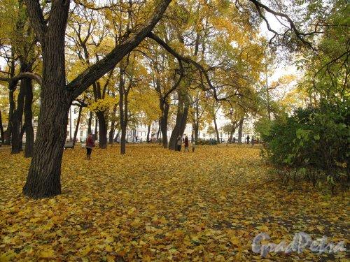 Никольская пл. Никольский сад. Сад осенью. Фото октябрь 2013 г.