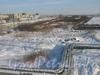 Вид с Российского путепровода на пустырь около ж/д путей. Фото февраль 2012 г.