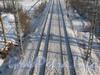 Граница Невского и Красногвардейского района - ж/д пути. Вид с Российского путепровода. Фото февраль 2012 г.