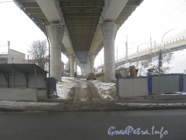 ЗСД. Путепровод перед ж/д. Вид с ул. Маршала Говорова из окна трамвая.