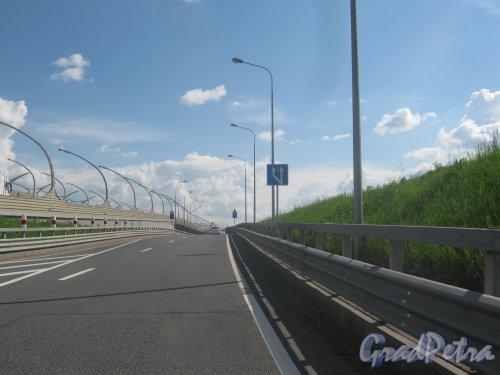 Западный скоростной диаметр. Въезд с Автомобильной улицы. Фото 30 мая 2013 г.