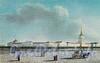 Адмиралтейство со стороны Исаакиевской площади. Гуашь неизвестного художника. 1820-е гг.