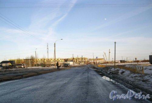 Перспектива Кудровского проезда от проспекта Большевиков в сторону границы Санкт-Петербурга