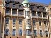 Владимирский пр., д. 19. Торгово-гостиничный комплекс «Владимирский Пассаж». Фрагмент фасада здания. Фото август 2009 г.