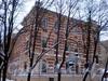 Греческий пр., д. 21 / 6-я Советская ул., д. 2. Здание 3-го реального училища (гимназии №155). Вид от 6-ой Советской улицы. Фото февраль 2010 г.
