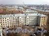 Большеохтинский пр., д. 22 / шоссе Революции, д. 5.жилой дом. Вид со двора. Фото апрель 2009 г.