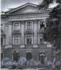 Лиговский пр., д. 64-66.жилой дом при заводе Ф. К. Сан-Галли. Фасад со стороны Сангальского сада. Фото 1967 г. (из книги «Историческая застройка Санкт-Петербурга»)