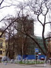 Большой пр. В.О., д. 1, лит. А. Церковь Святой Екатерины. Реставрация. Фото май 2010 г.