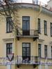 Большой пр. В.О., д. 17 / 5-я линия В.О., д. 16 (левая часть). Дом А. А. Куракиной (Э. П. Шаффе). Фрагмент угловой части фасада здания с балконами. Фото май 2010 г.