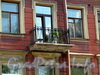 Клинский пр., д. 18. Решетка балкона. Фото май 2010 г.