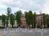 Сквер с детской площадкой на углу Малодетскосельского проспекта и Бронницкой улицы. Фото май 2010 г.